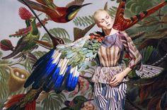 "Ukranian designer Masha Reva's collection ""Merging"", is an homage to overkill, pattern on pattern, nature vs nurture."