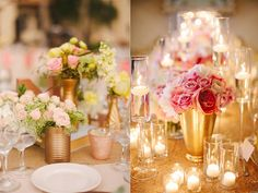 The Ultimate Golden Wedding Venue – Gold Bridesmaid Dresses and Accessories and Decor