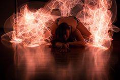 @lykafoxpole. taken at @enpointeaerial. Lit with EL Wire. #lightpainting #light #Longexposure #longexposurephotography #poledancer #poledancing #pole #lowkey #nightshoot #night #canon #canon6D #abstract #studio #shoot #Red #electroluminescent #wire