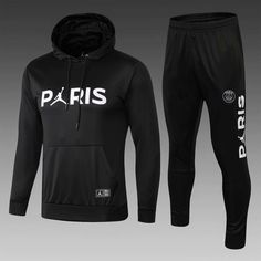 PSG Black Men Tracksuit Slim Fit (Sweatshirt) Item Specifics Brand: Nike Gender: Men's Adult Model Year: Material: Polyester Type of Brand Logo: Embroidered Type of Team Badge: Embroidered Psg, Jordan Outfits, Sport Outfits, Jordans Outfit For Men, Hoodie Outfit Casual, Moda Nike, Jersey Atletico Madrid, Football Fashion, Man Stuff
