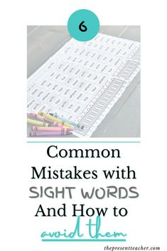 Sight Words can be hard to teach. Especially for new teachers. Here are 6 mistakes I made as a new teacher while teaching Sight Words. Teacher Blogs, Teacher Hacks, Best Teacher, Teacher Resources, Teaching Sight Words, Sight Word Practice, Teaching Math, Teaching Ideas, Primary Activities