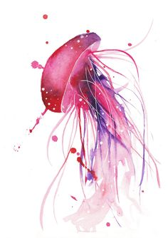 Watercolour Jellyfish by Curious-Ruby