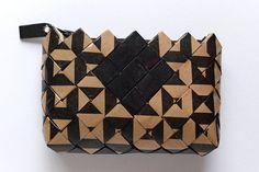 Candy Wrapper Bag, handmade clutch bag