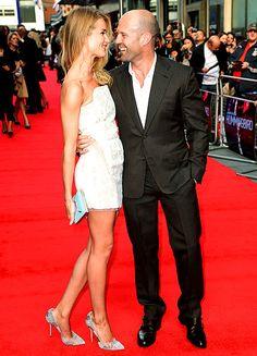 Rosie Huntington-Whitely and Jason Statham. #Celebstylewed #Celebrities @Celebrity Style Weddings