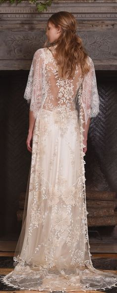 ☆claire pettibone fall 2017 bridal three quarter sleeves illusion v neck sweetheart neckline heavily embellished bodice romantic modified a line wedding dress lace back sweep train (reverie) bv -- Claire Pettibone Fall 2017 Wedding Dresses Stunning Wedding Dresses, 2015 Wedding Dresses, Designer Wedding Dresses, Bridal Dresses, Wedding Gowns, Wedding Blog, 2017 Wedding, Wedding Attire, Wedding Stuff