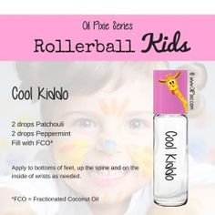 Cool, Rollerball blends for kids, essential oils
