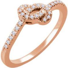 652130 / 14kt Rose / 1/6 CTW Diamond Knot Ring