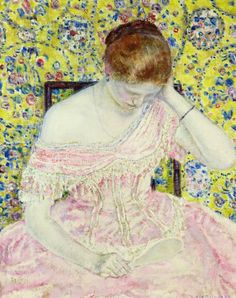 The Athenaeum - The Old Fashioned Gown (Frederick Carl Frieseke - )