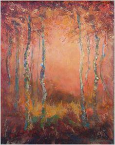 HAPPY WOODS, original painting by Emilia Milcheva, 52x70cm