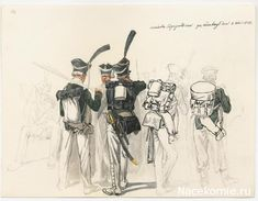 Line Infantry Grenadiers, campaign dress, 1812