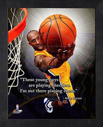 """These young guys are playing checkers. I'm out there playing chess."" Kobe Bryant Los Angeles Lakers 12x15 Framed ProQuote  http://www.fansedge.com/Kobe-Bryant-Los-Angeles-Lakers-12x15-Framed-ProQuote-_1559779039_PD.html?social=pinterest_pfid44-61571"