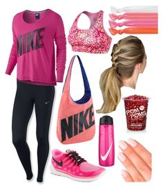 """""""Untitled #61"""" by gabrielleann15 ❤ liked on Polyvore featuring NIKE, Ribband and Elegant Touch"""