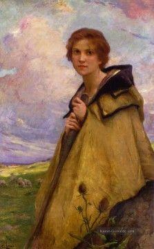 Charles Amable Lenoir Gemälde - LaBergere Large realistische Porträts Mädchen Charles Amable Lenoir