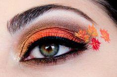 Orange Herbstlaub Make-up, thanksgiving makeup, Fall Eyeshadow Looks, Fall Makeup Looks, Spring Makeup, Autumn Makeup, Eyeshadow Makeup, Makeup Art, Makeup Cosmetics, Makeup Eyes, Makeup Inspo