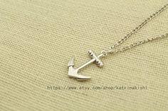 Maritime seaman Anchor Jewelry Pendant Necklace  by katrinakishi, $2.40