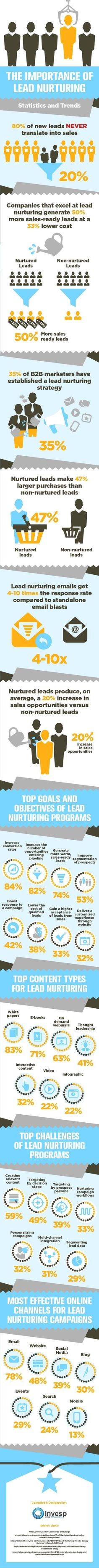 Lead Nurturing: How to Turn Website Leads into Customers #Infographic #Marketing