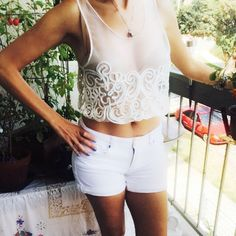 Embroidery Top Gorgeous hand made Top you can wear it in a different styles, the side elastic band make it fits all the sizes Hand made Tops