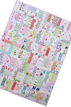 A Baby Quilt - Not Quite Low Volume.