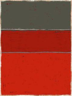 style peintre Mark Rothko // inspired by mark rothko artist painter artiste octave pixel tableau abstrait rouge orange gris