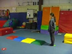 Paint the rainbow wk 4 march vault and floor - YouTube
