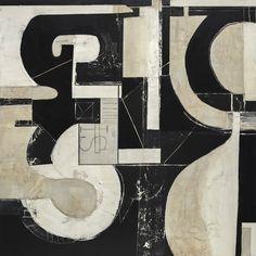 """Roma"", Karen Vogel, POSTSCRIPT, 36"" x 36"", Mixed Media on Wood Panel"