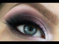 ▶ Grey & Pink Smokey Eye Makeup Tutorial - YouTube