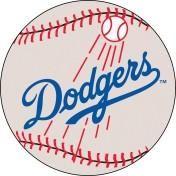 Los Angeles Dodgers baseball floor mat