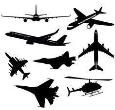 Airplane svg clipart silhouette  Airplane and by elasticcolor