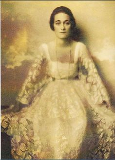 "Wallis Simpson during her first marriage.  In 1924, Wallis followed her husband to China. According to Hui-lan Koo, the second wife of Chinese diplomat and politician Wellington Koo, the only Mandarin Chinese phrase that Wallis learned during her Asian sojourn was ""boy, pass me the champagne"".  Several more extramarital affairs took place in China supposedly even one with Count Galeazzo Ciano, later Mussolini's son in law."