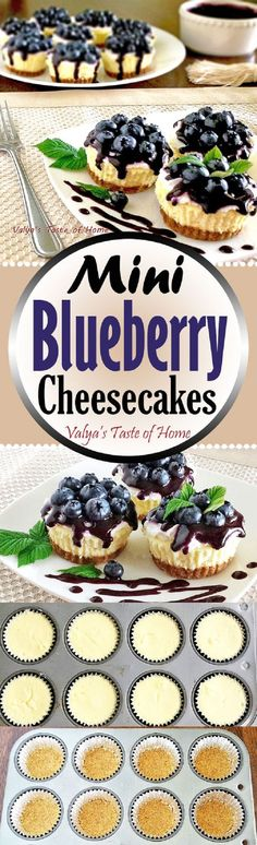 Mini Blueberry Cheesecakes - 14 Dainty Cheesecake Recipe Ideas for a Truly Sweet Gathering