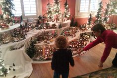 Christmas Village Display Tips | The children are fascinated. They just point and stare and try to take ...