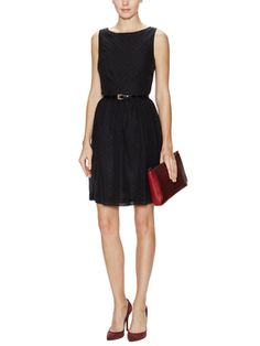 Silk Boatneck Belted Dress from Classic Combo: Prep & Pearls on Gilt