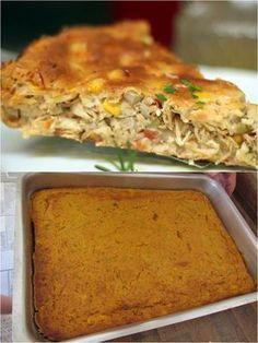Essa Torta de frango é Simplesmente Deliciosa! – Caderno de Receitas
