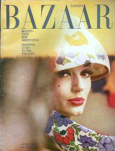 that outfit! Simone d'Aillencourt in straw hat by Adolfo of Emme, cover by Saul Leiter, Harper's Bazaar, April 1959