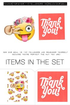 """""""Thanks for over 110 followers!"""" by emojistyle ❤ liked on Polyvore featuring art"""