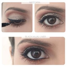 Five-minute good looks: How to do glittery eyes (Five Minutes Makeup) Prom Makeup, Wedding Hair And Makeup, Hair Makeup, Makeup Tips, Beauty Makeup, Hair Beauty, Competition Hair, The Beauty Department, Gold Eyeshadow