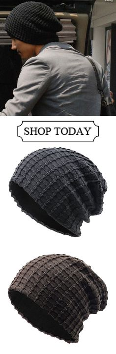 Mens Cotton Stripe Thicken Beanie Hats Casual Windproof Visor Hats  outdoor   outfit   a89918b8c2b2
