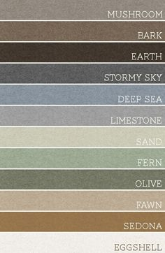 Paint colors by justbreathedesign. I love these natural, muted tones anywhere in the house!