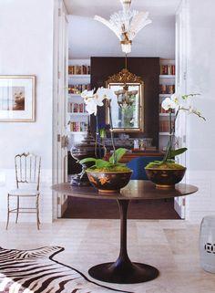 tulip table in entryway xo
