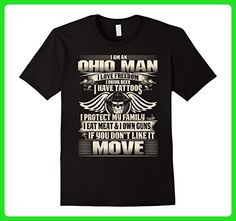 Mens Ohio Man Love Freedom Drink Beer Have Tattoos T-shirt 2XL Black - Food and drink shirts (*Amazon Partner-Link)