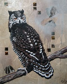 Great Horned Owl by Laselle on Etsy https://www.etsy.com/listing/91021104/great-horned-owl
