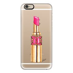 YSL Pink Lipstick Transparent - iPhone 7 Case, iPhone 7 Plus Case,... (53 AUD) ❤ liked on Polyvore featuring accessories, tech accessories, iphone case, slim iphone case, pink iphone case, iphone cases, iphone cover case and apple iphone case