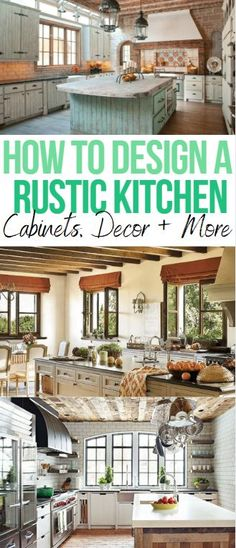 Find the hottest rustic kitchen decor ideas today on our latest blog. From cabinets to decoration, we're going over everything you need to create the perfect rustic country design. Visit our blog today!...................................#KitchenCabinets | DIY | Grey | Farmhouse | Modern | Island | Backsplash | Small | Colors | Design | White | Countertops | On a budget | Table | French | Lily Ann Blogs
