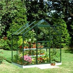 The Silver Aluminium Popular 4 x 6 Metal Greenhouse is a great way for garden enthusiasts to grow a great variety of plants in different seasons. This greenhouse comes in three different glazing finishes horticultural, polycarbonate or toughened glass. You can also purchase an optional halls auto vent to help you control variations in temperature, it can be attached to any halls opening roof vent. This long lasting and low maintenance greenhouse also comes with a 15 year guarantee.