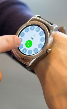 The LG Watch Urbane has a special app called LG Call which allows you to dial numbers, see recent calls and select your contacts (but you need to have an LG phone to make actual calls).