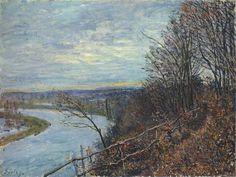 November Afternoon - Alfred Sisley