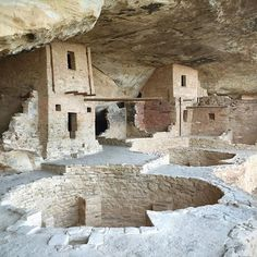 Every culture has its own place of spirituality, gathering and worship. For the ancient Puebloans there were the Kivas — the symbolic heart of the civilization. Kivas were excavated out of either sandstone or soil and because space was so precious in cliff dwellings, these subterranean rooms served a mixture of social, storage and religious purposes. They are sometimes compared to churches, mosques and temples. Shown here are the Kivas at the Balcony House in Mesa Verde #spiritualfarm…