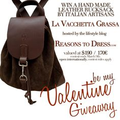 The Winter Continues + A Valentine's leather rucksack Giveaway!