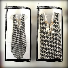 Abstract hi-low dress Black and white abstract hi-low dress Forever 21 Dresses High Low