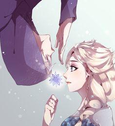 Jack Frost x Elsa Frozen by theyumi